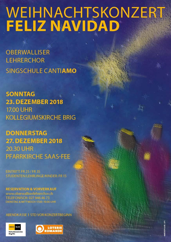 Weihnachtskonzert 2018 - Oberwalliser Lehrerchor